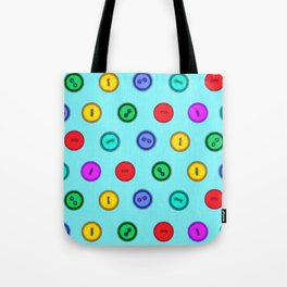 Colorful hand drawn vintage interior design and textile design buttons pattern Tote Bag