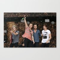 one direction Canvas Prints featuring One Direction by behindthenoise