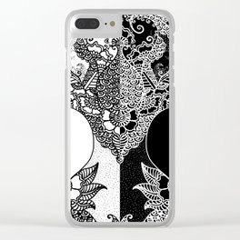 Unity of Halves - Life Tree - Rebirth - White Black Clear iPhone Case