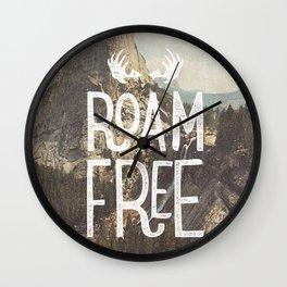 Roam Free - Yosemite Wall Clock