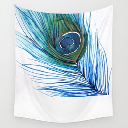 Peacock Feather I Wall Tapestry