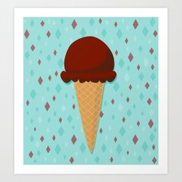 Chocolate ice cream Art Print