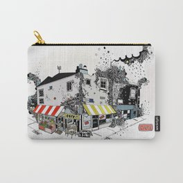 Street view pen drawing London illustration Carry-All Pouch