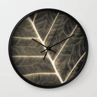 Leaf Patterns Wall Clock
