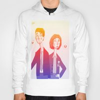 mulder Hoodies featuring mulder n scully by clairen0vak
