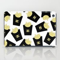 fries iPad Cases featuring French fries by flowerstyle