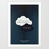 fault in our stars Art Prints featuring The Fault in Our Stars by thatfandomshop