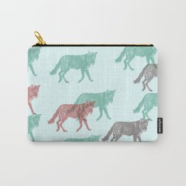 Green Fox, Red fox Carry-All Pouch