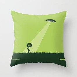 WTF? Ovni! Throw Pillow