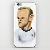 england iPhone & iPod Skins featuring Rooney - England by Sant Toscanni