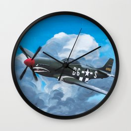 P51 Mustang- Milwaukee style Wall Clock