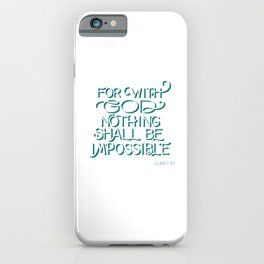 For with God - Bible Verse iPhone Case