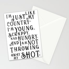 Young, Scrappy & Hungry Stationery Cards