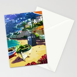 Tardis And The Beach Stationery Cards
