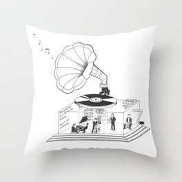 How does a Gramophone actually work? Throw Pillow