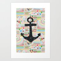 anchor Art Prints featuring Anchor by Berreca