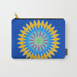 Colorful abstract star on dark blue background Carry-All Pouch