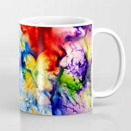 Abstract Encaustic Colorful Flowers, Coffee Mug