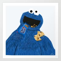 cookie monster Art Prints featuring Cookie Monster by Dano77