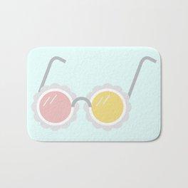 Pastel Summer Sunglasses Bath Mat