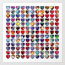 Painted Hearts Art Print