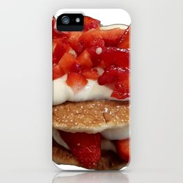 pancakes_strawberries_and_whip_cream iPhone Case