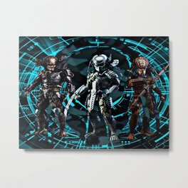 Predators Are Coming Metal Print