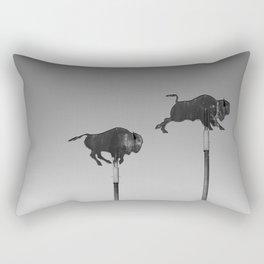 Where the Buffalo Roam Rectangular Pillow