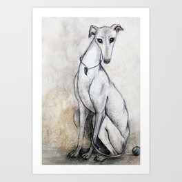 The Greyhound Wearing His Thorn Art Print