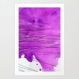 Watercolor Triangle Art Print