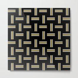 Team Colors 2 pattern gold, black Metal Print