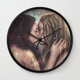 She bowed to one star Wall Clock