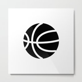 Basketball Ideology Metal Print