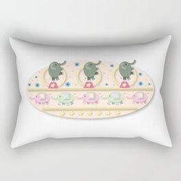 Circus Elephants Rectangular Pillow
