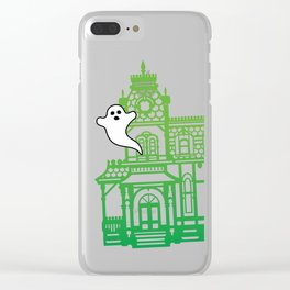Haunted Victorian House Clear iPhone Case