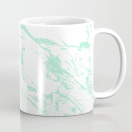 Trendy modern pastel mint green white marble pattern by Girly Trend Coffee Mug