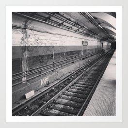 subway (black & white) Art Print
