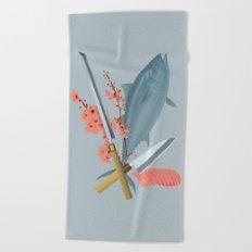 sushi chef Beach Towel
