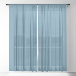 NIAGARA blue solid color Sheer Curtain