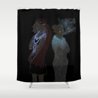 snk Shower Curtains featuring Annie and Anna by Khrow