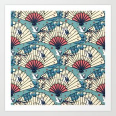 Oriental FanTasy Art Print