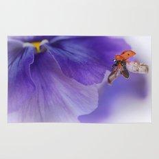 Ladybird on violet Rug