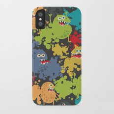 Funny microbes. Slim Case iPhone X