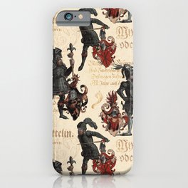 Medieval Knights in Shining Armor iPhone Case