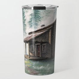Cabin in the Pines Travel Mug