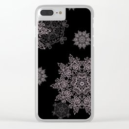 Silent Snow Clear iPhone Case