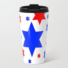 4TH RED & WHITE & BLUE STARS  DESIGN Travel Mug