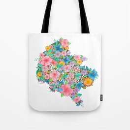 Flourished Map of Bucharest Tote Bag