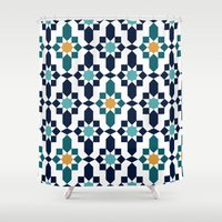 islam Shower Curtains featuring Marrakesh by Patterns and Textures