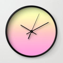 PEACH DREAMS - Minimal Plain Soft Mood Color Blend Prints Wall Clock